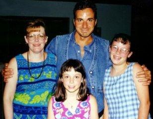 With Glenda, Brianna, and Mallory Lambert