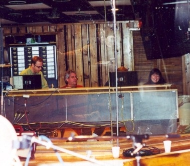 The Control Booth - The View From the Recording Booth (L-R: Archie Moore, Bob Yesbek, Christy Smith)