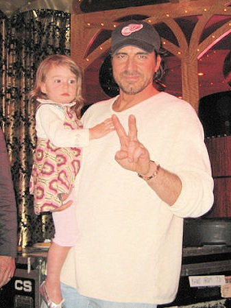 With daughter Marlowe